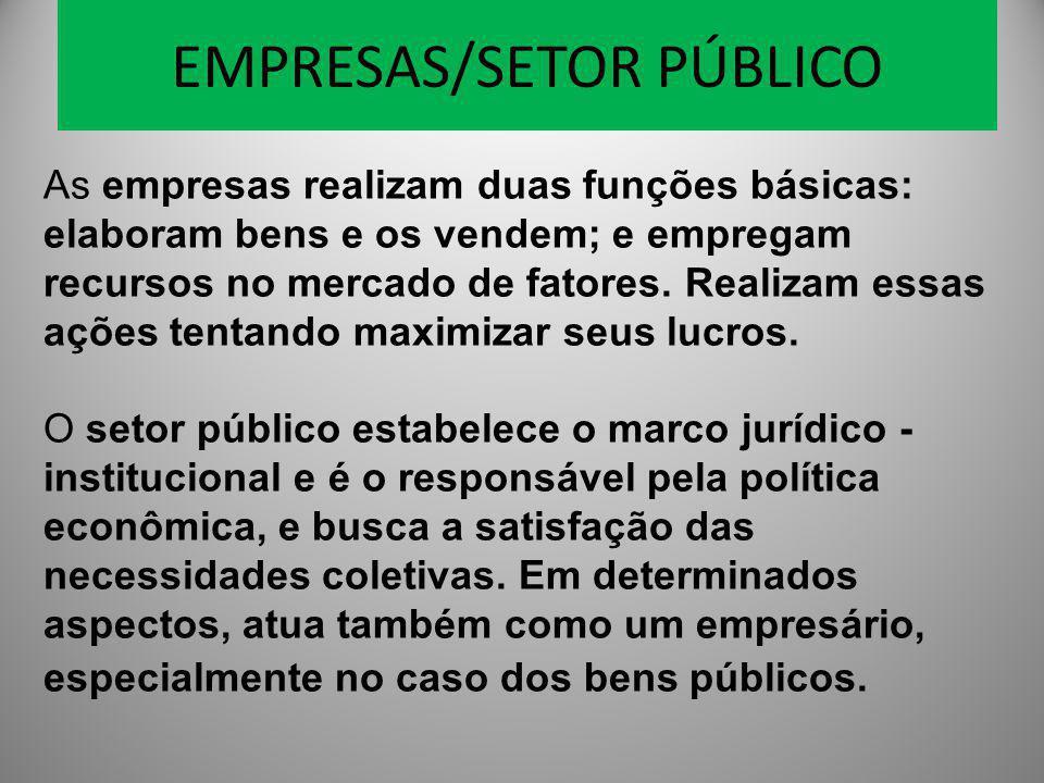 EMPRESAS/SETOR PÚBLICO