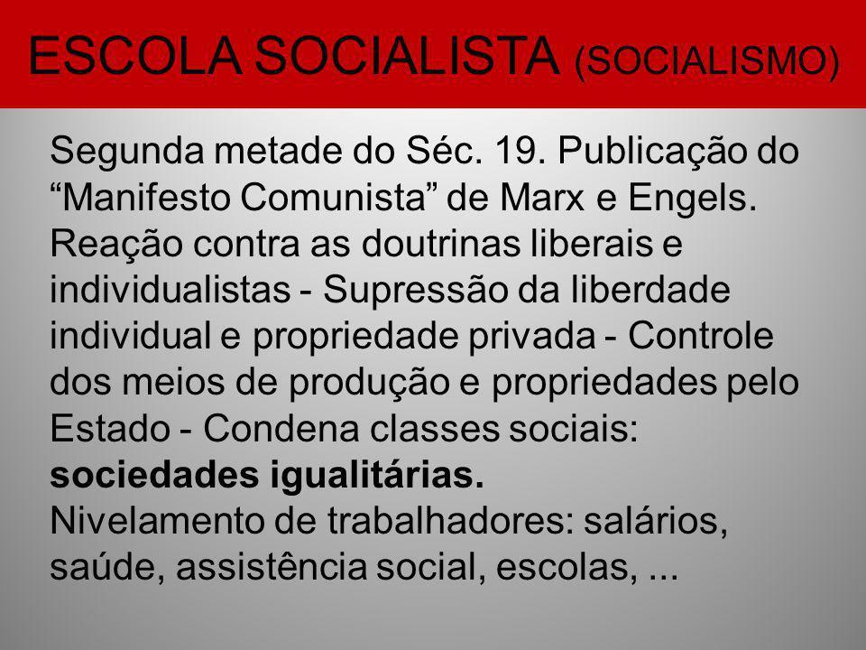 ESCOLA SOCIALISTA (SOCIALISMO)