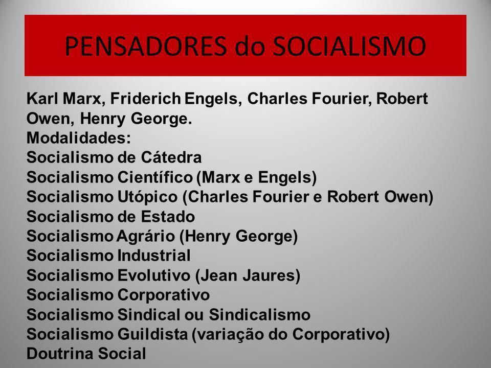 PENSADORES do SOCIALISMO