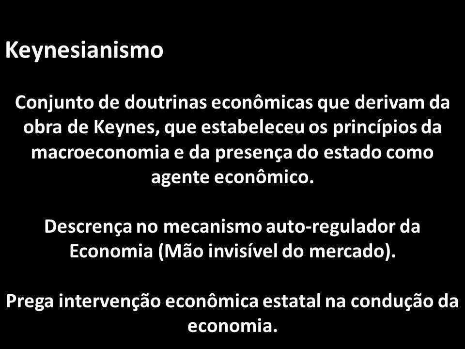 Prega intervenção econômica estatal na condução da economia.
