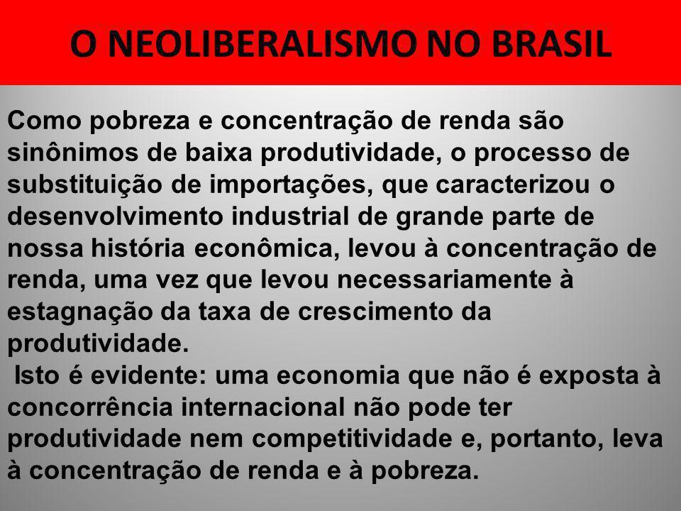 O NEOLIBERALISMO NO BRASIL