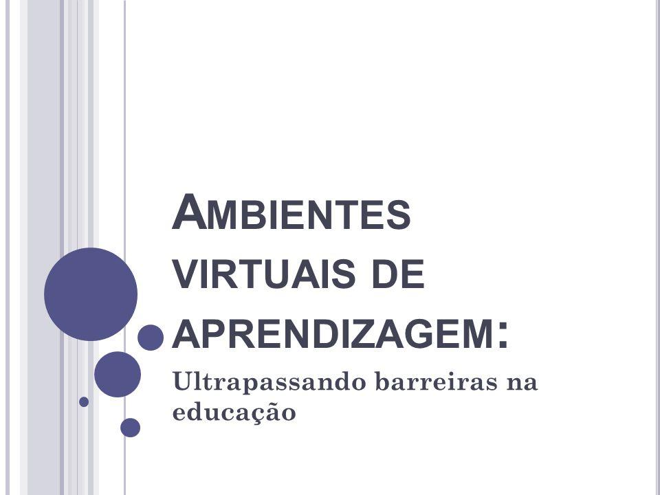 Ambientes virtuais de aprendizagem: