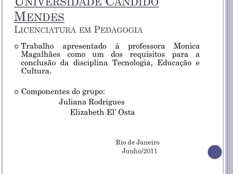 Universidade Candido Mendes Licenciatura em Pedagogia