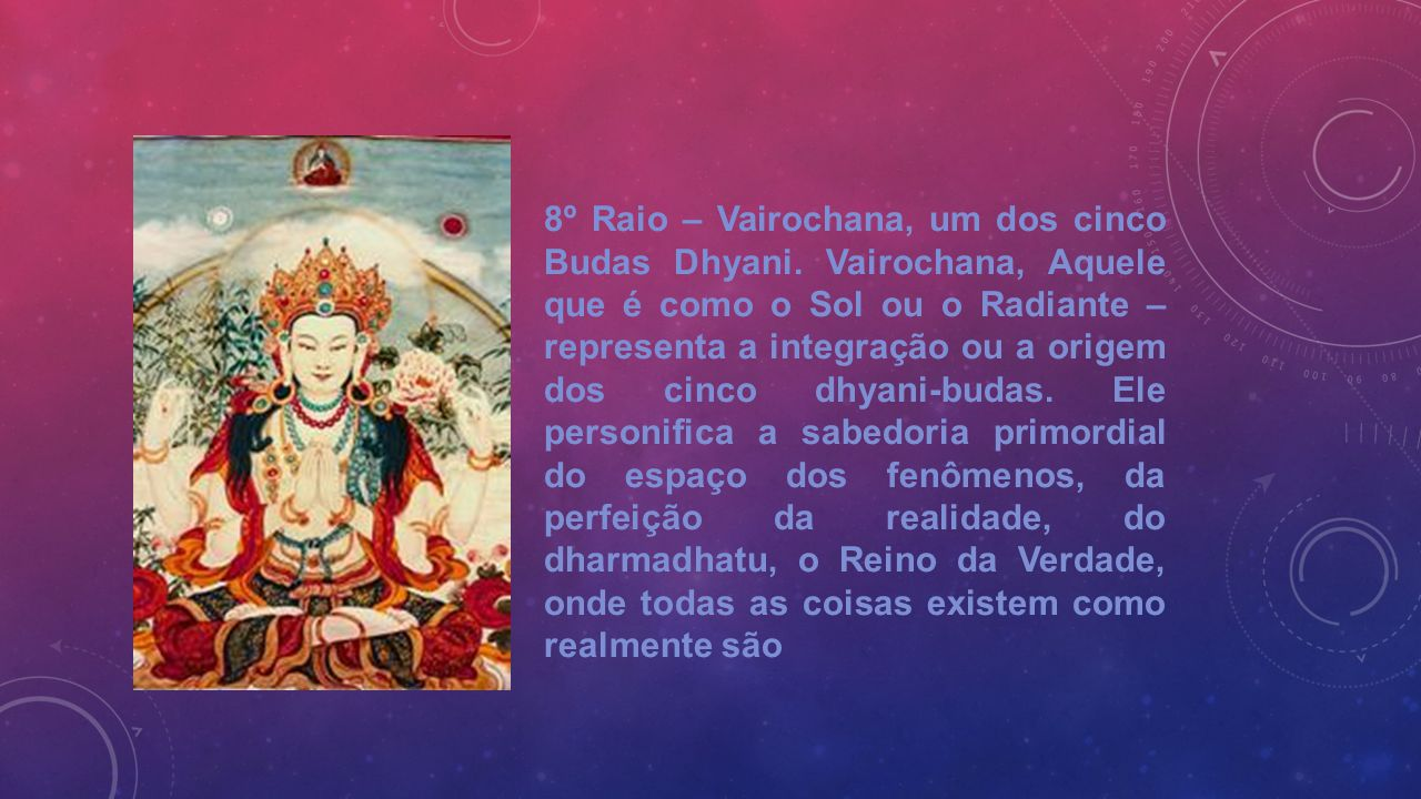 8º Raio – Vairochana, um dos cinco Budas Dhyani