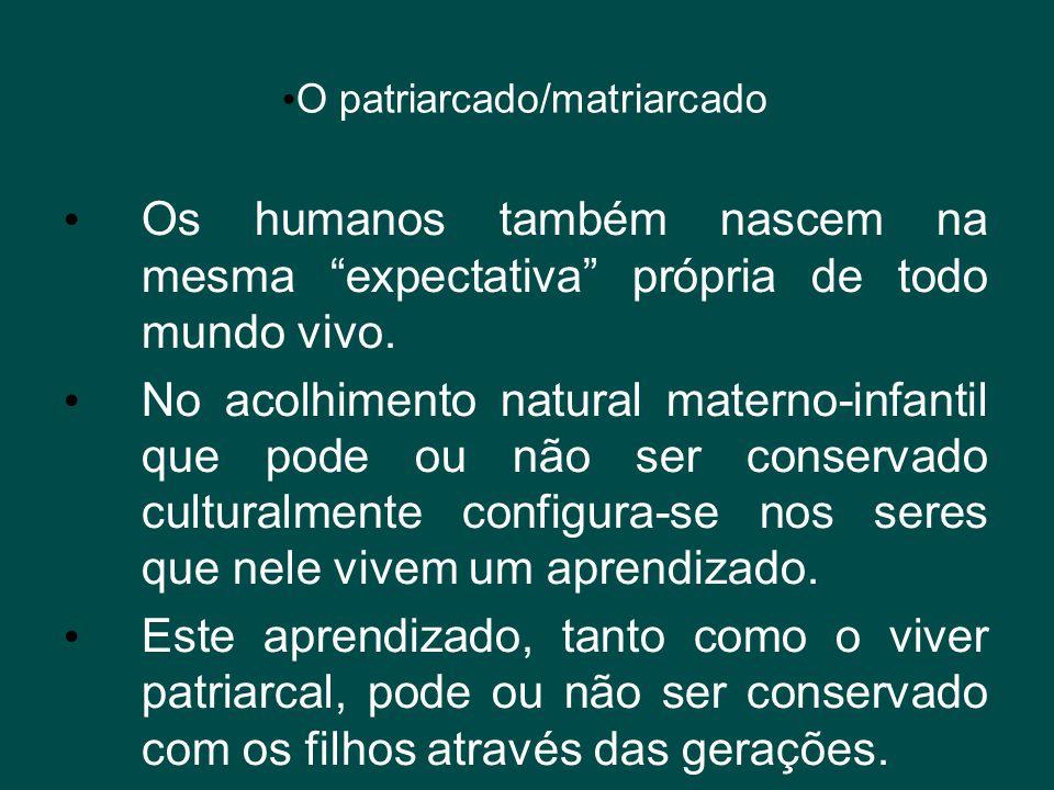 O patriarcado/matriarcado
