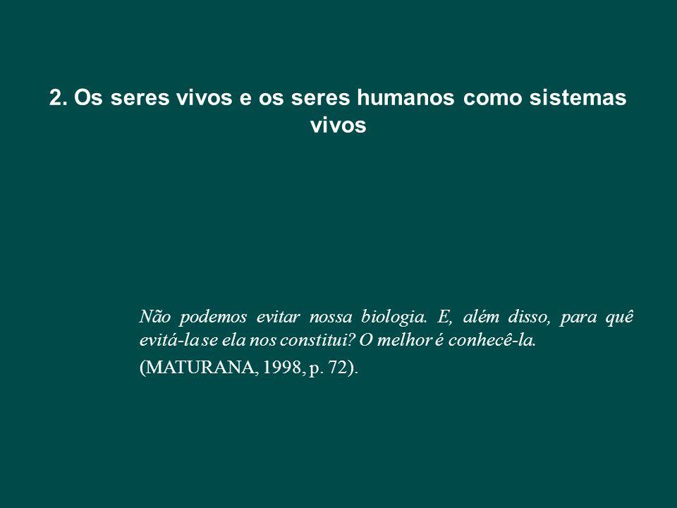 2. Os seres vivos e os seres humanos como sistemas vivos