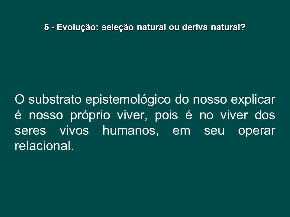 5 - Evolução: seleção natural ou deriva natural
