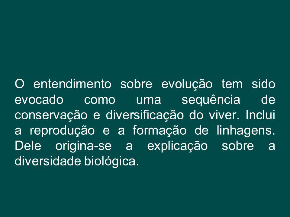 O entendimento sobre evolução tem sido evocado como uma sequência de conservação e diversificação do viver.