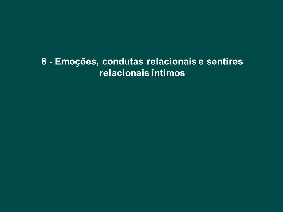 8 - Emoções, condutas relacionais e sentires relacionais íntimos