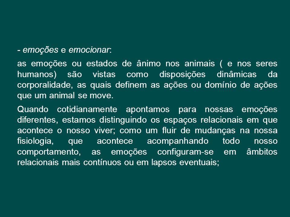 - emoções e emocionar: