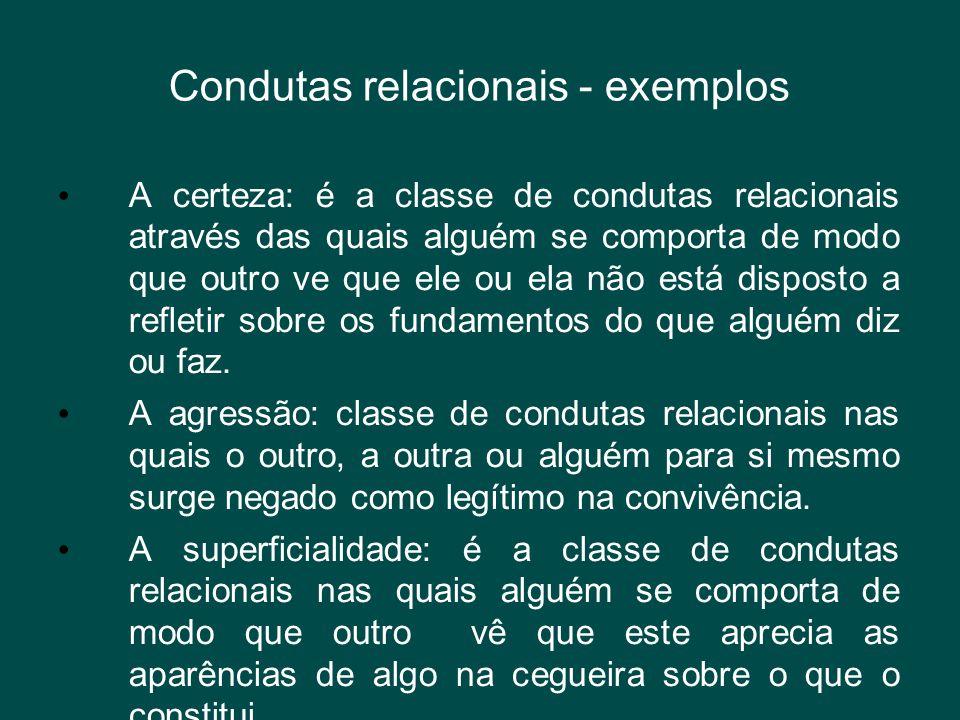 Condutas relacionais - exemplos