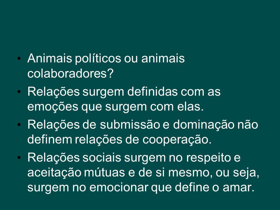 Animais políticos ou animais colaboradores