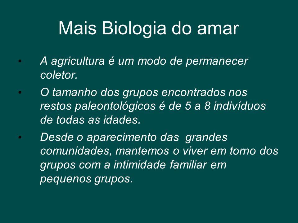 Mais Biologia do amar A agricultura é um modo de permanecer coletor.