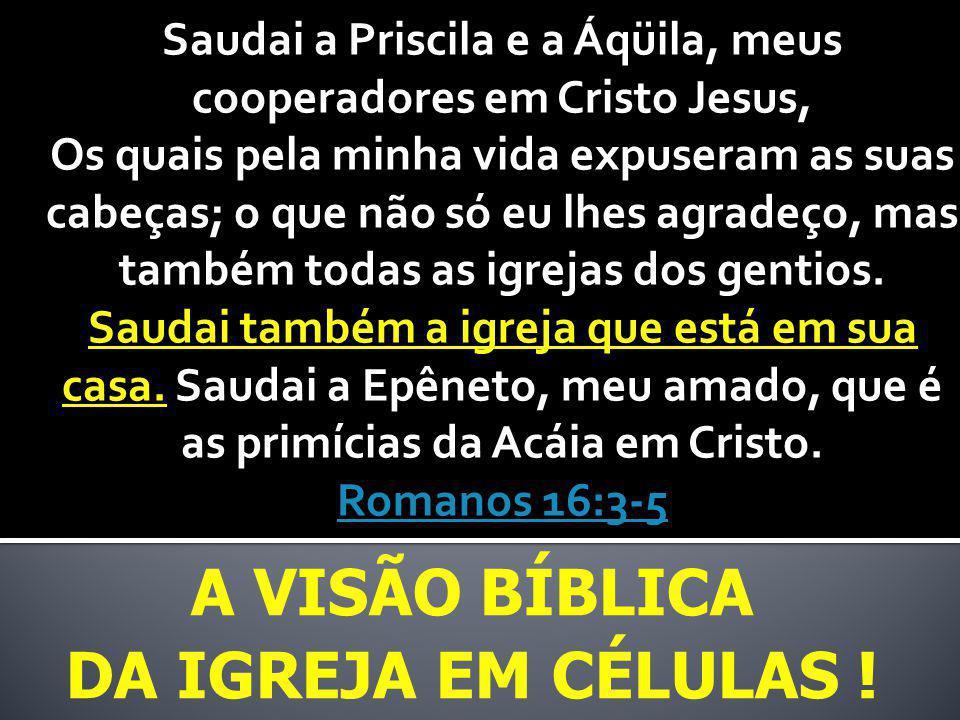 A visão bíblica Da igreja em células !