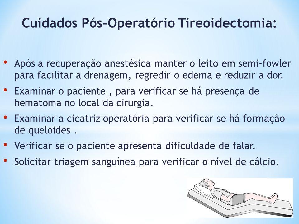 Cuidados Pós-Operatório Tireoidectomia:
