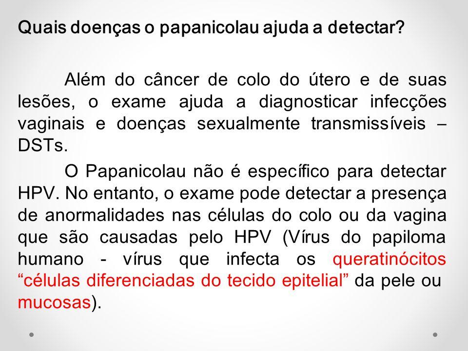 Quais doenças o papanicolau ajuda a detectar