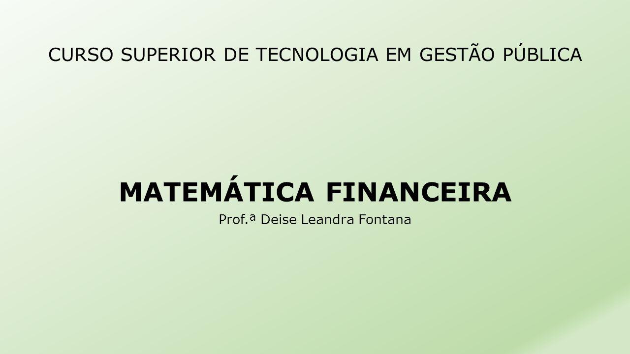 CURSO SUPERIOR DE TECNOLOGIA EM GESTÃO PÚBLICA