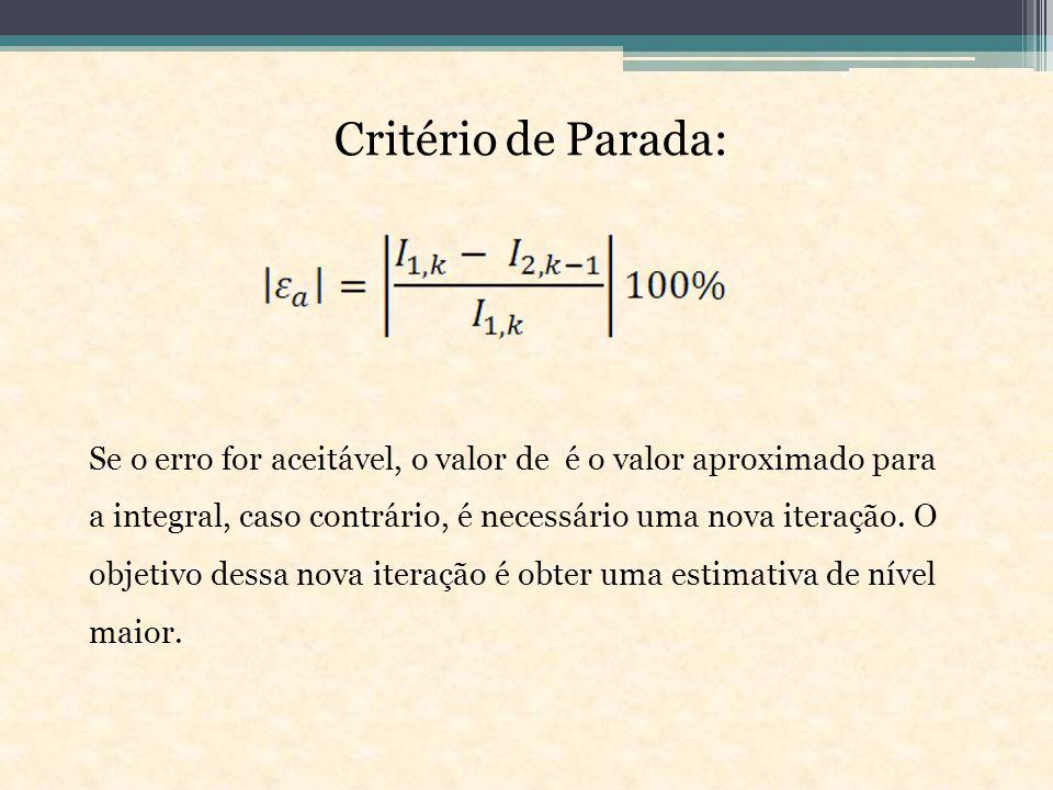 Critério de Parada: