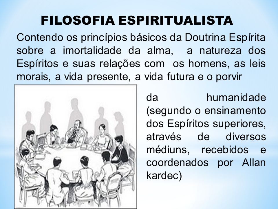 FILOSOFIA ESPIRITUALISTA