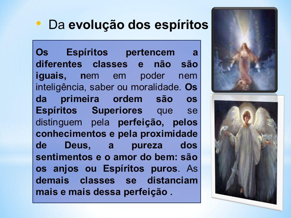 Da evolução dos espíritos