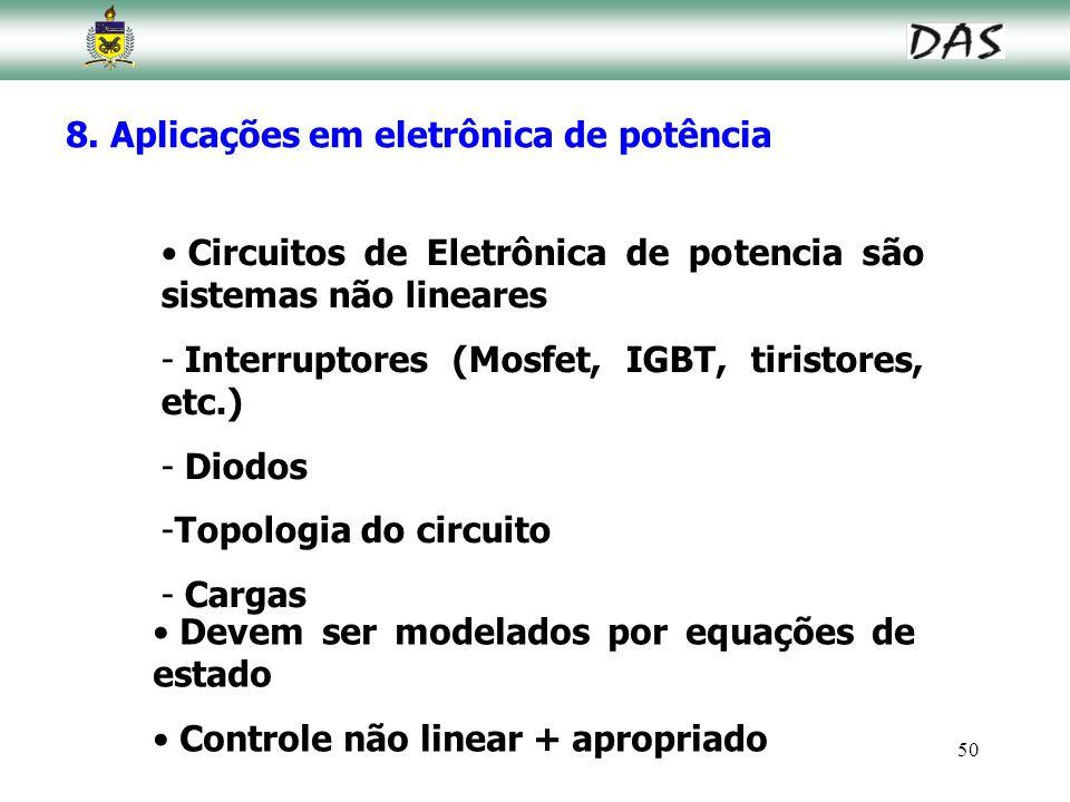 8. Aplicações em eletrônica de potência
