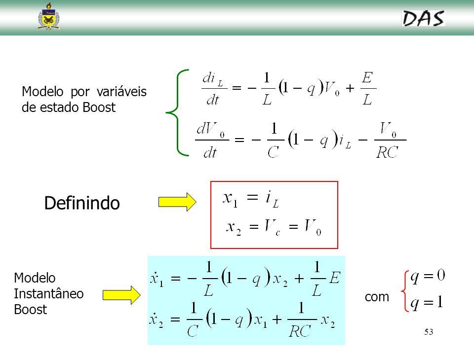 Definindo Modelo por variáveis de estado Boost