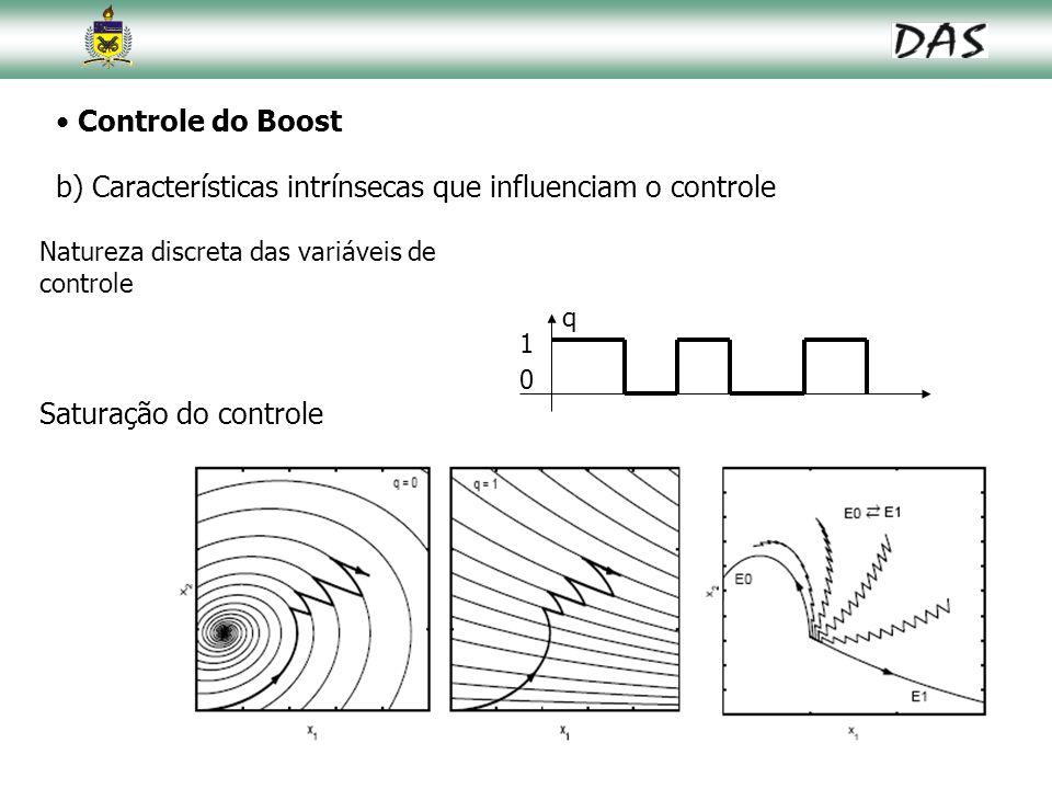 b) Características intrínsecas que influenciam o controle
