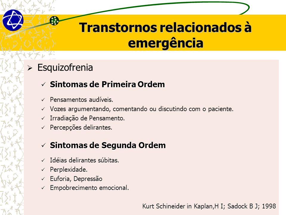 Transtornos relacionados à emergência