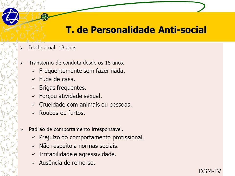 T. de Personalidade Anti-social