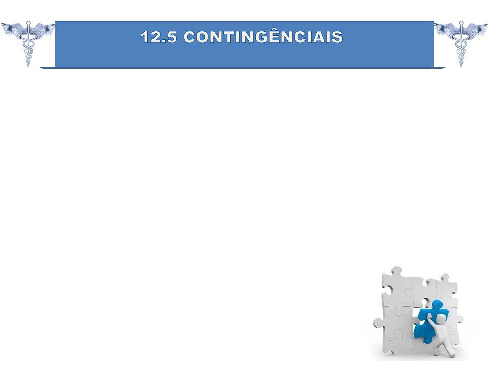 12.5 CONTINGÊNCIAIS