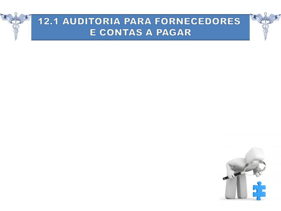 12.1 AUDITORIA PARA FORNECEDORES