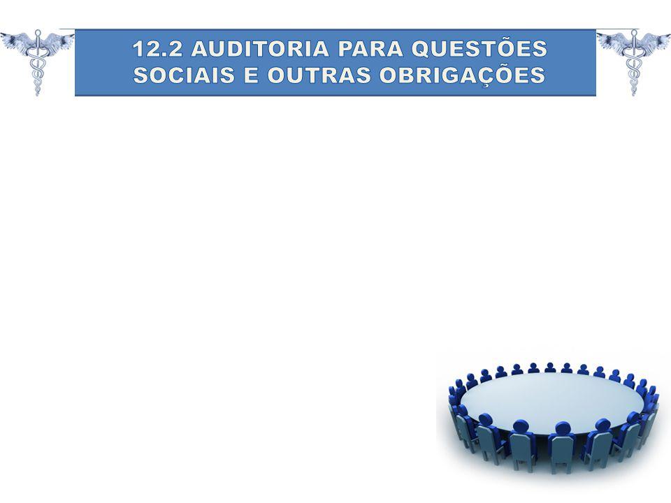 12.2 AUDITORIA PARA QUESTÕES SOCIAIS E OUTRAS OBRIGAÇÕES