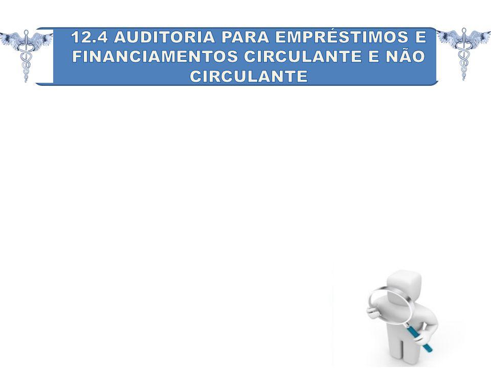 12.4 AUDITORIA PARA EMPRÉSTIMOS E FINANCIAMENTOS CIRCULANTE E NÃO CIRCULANTE