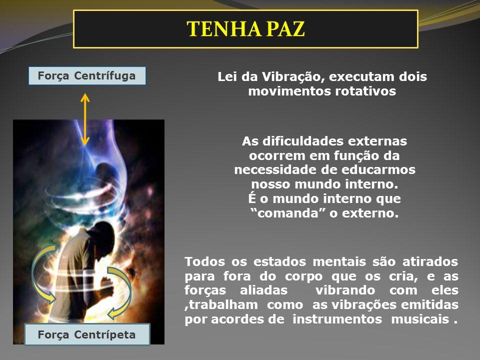 TENHA PAZ Lei da Vibração, executam dois movimentos rotativos