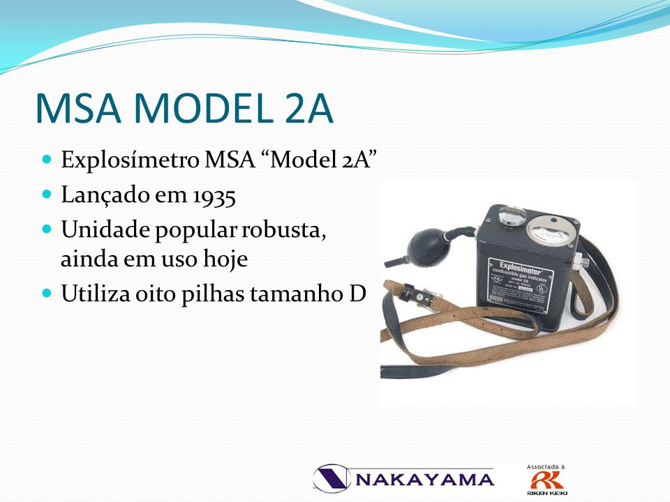 MSA MODEL 2A Explosímetro MSA Model 2A Lançado em 1935