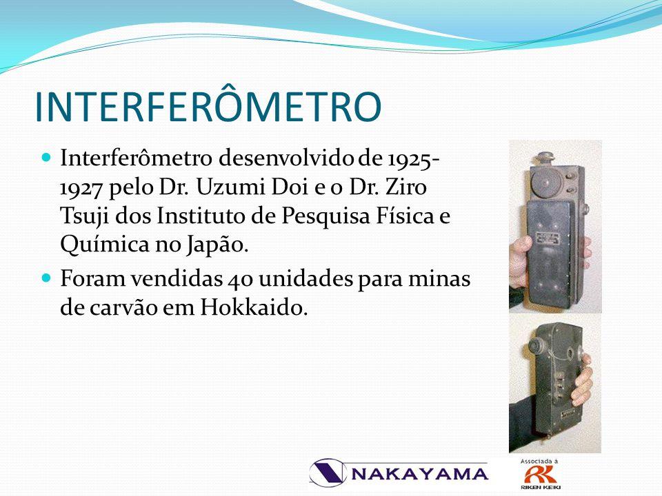 INTERFERÔMETRO Interferômetro desenvolvido de 1925-1927 pelo Dr. Uzumi Doi e o Dr. Ziro Tsuji dos Instituto de Pesquisa Física e Química no Japão.