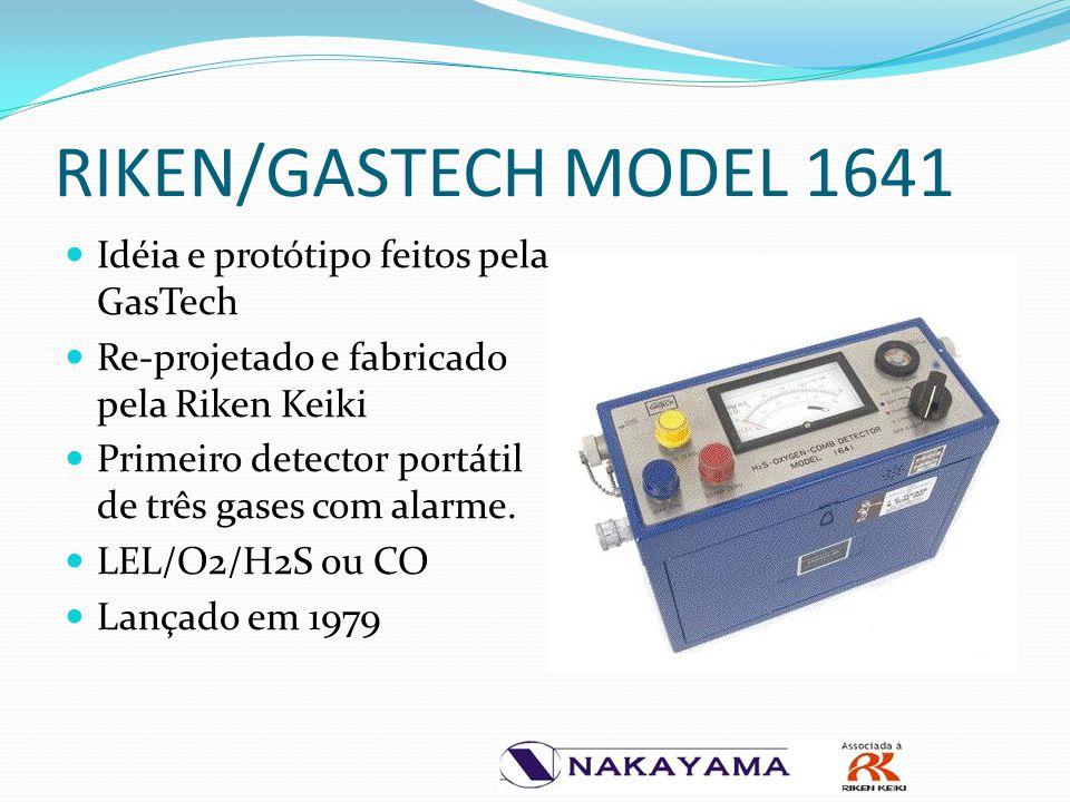 RIKEN/GASTECH MODEL 1641 Idéia e protótipo feitos pela GasTech