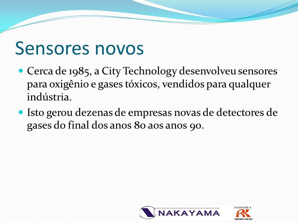 Sensores novos Cerca de 1985, a City Technology desenvolveu sensores para oxigênio e gases tóxicos, vendidos para qualquer indústria.