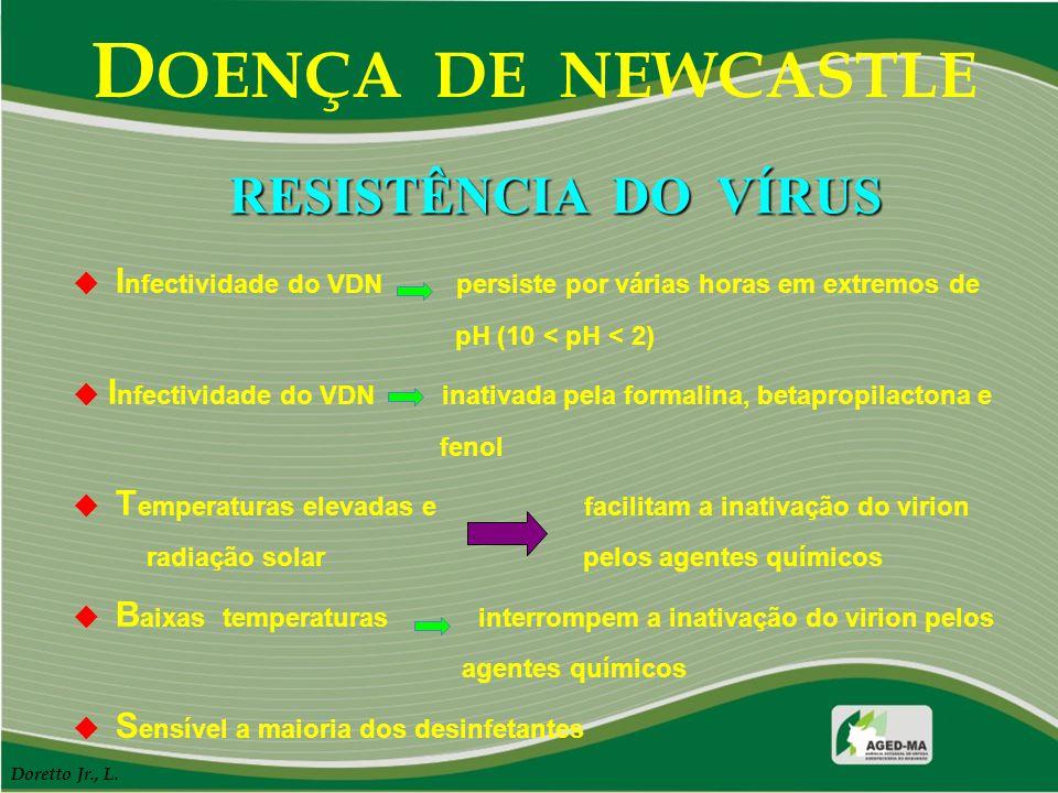 DOENÇA DE NEWCASTLE RESISTÊNCIA DO VÍRUS