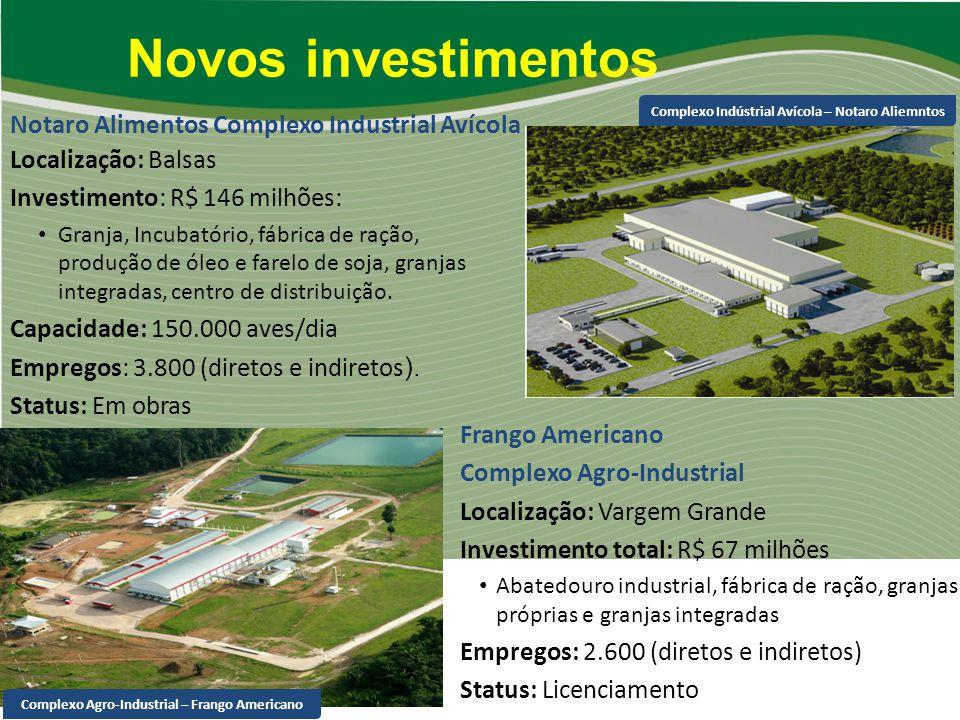 Novos investimentos Notaro Alimentos Complexo Industrial Avícola