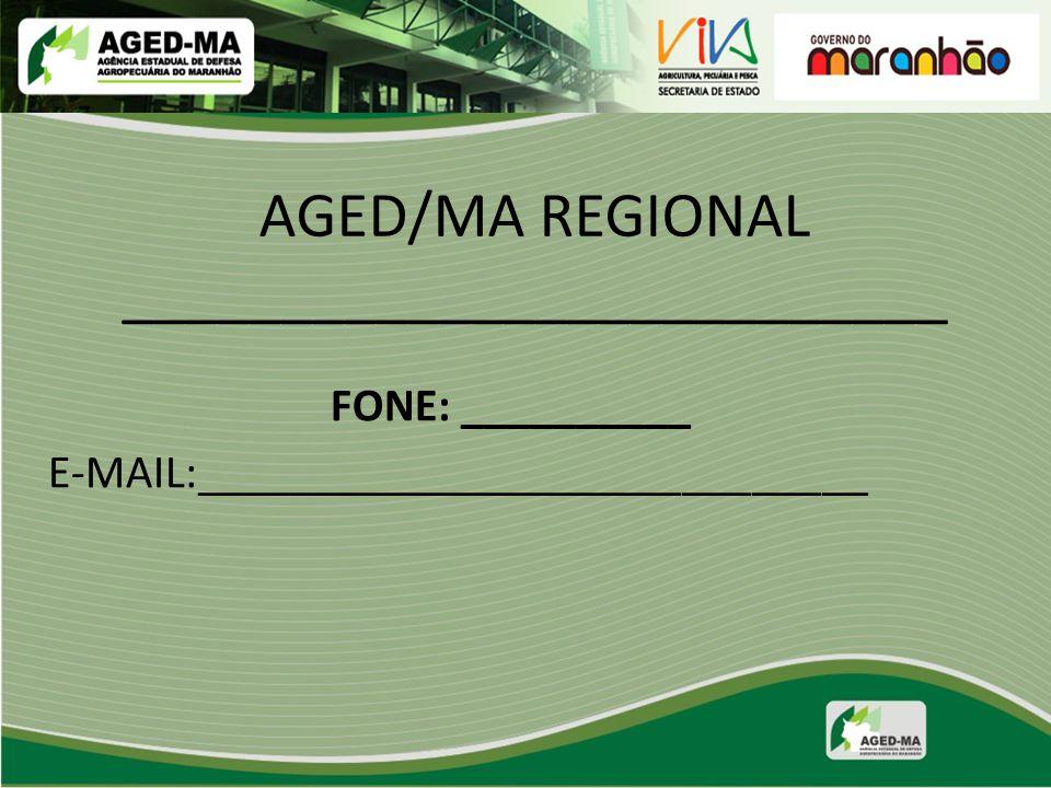 AGED/MA REGIONAL __________________________
