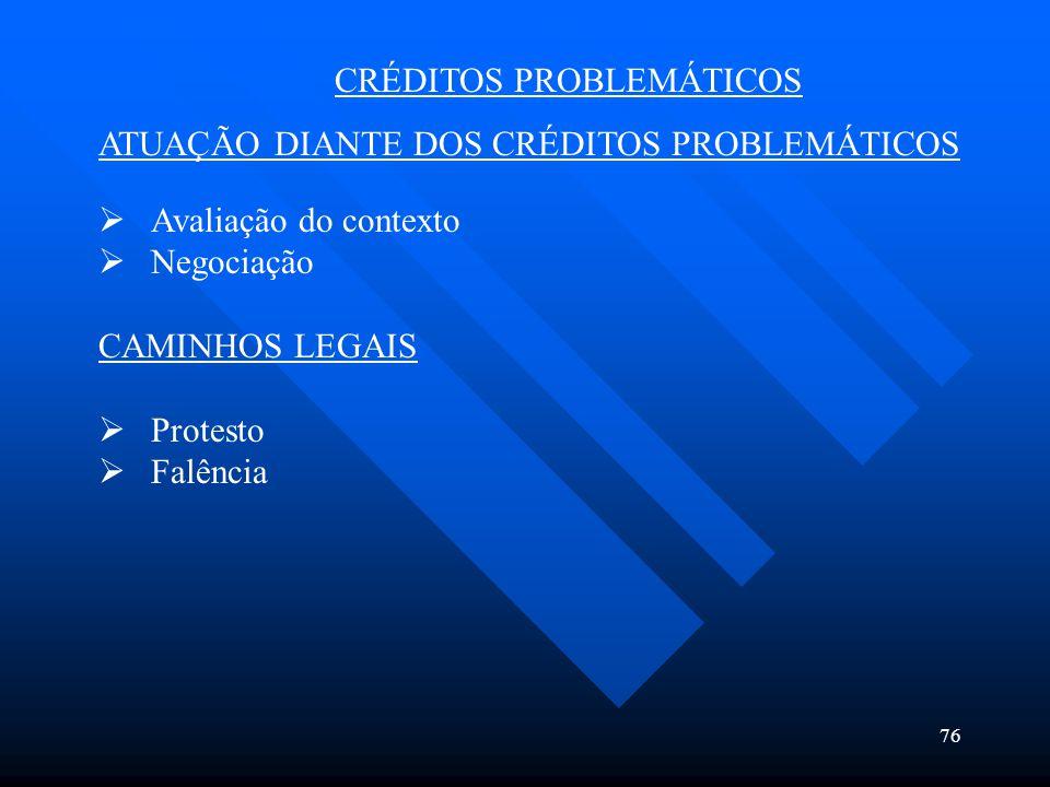 CRÉDITOS PROBLEMÁTICOS
