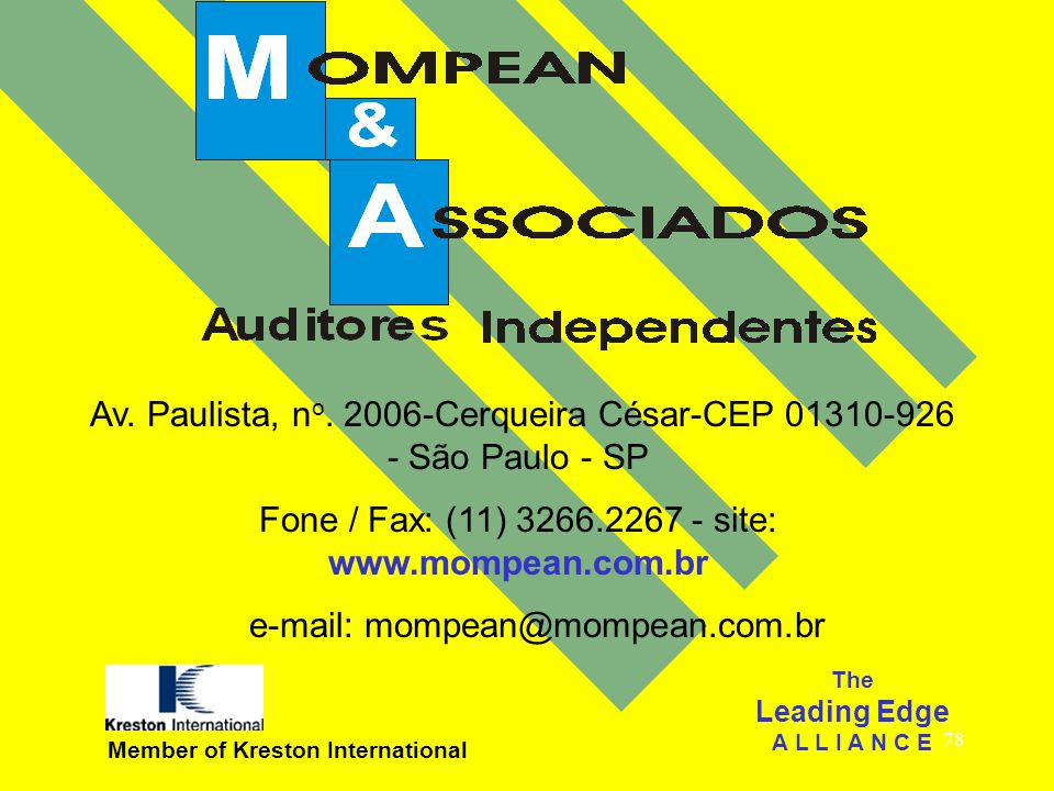 Av. Paulista, no. 2006-Cerqueira César-CEP 01310-926 - São Paulo - SP