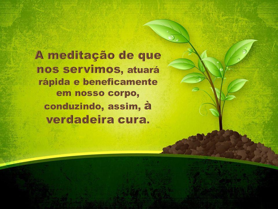 A meditação de que nos servimos, atuará rápida e beneficamente em nosso corpo, conduzindo, assim, à verdadeira cura.