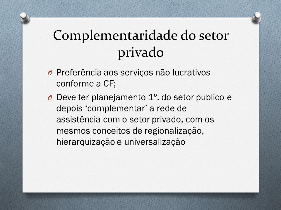 Complementaridade do setor privado
