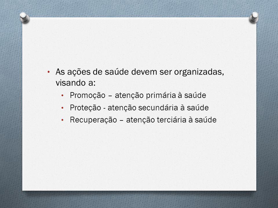 As ações de saúde devem ser organizadas, visando a: