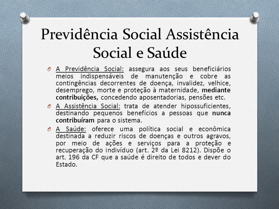 Previdência Social Assistência Social e Saúde