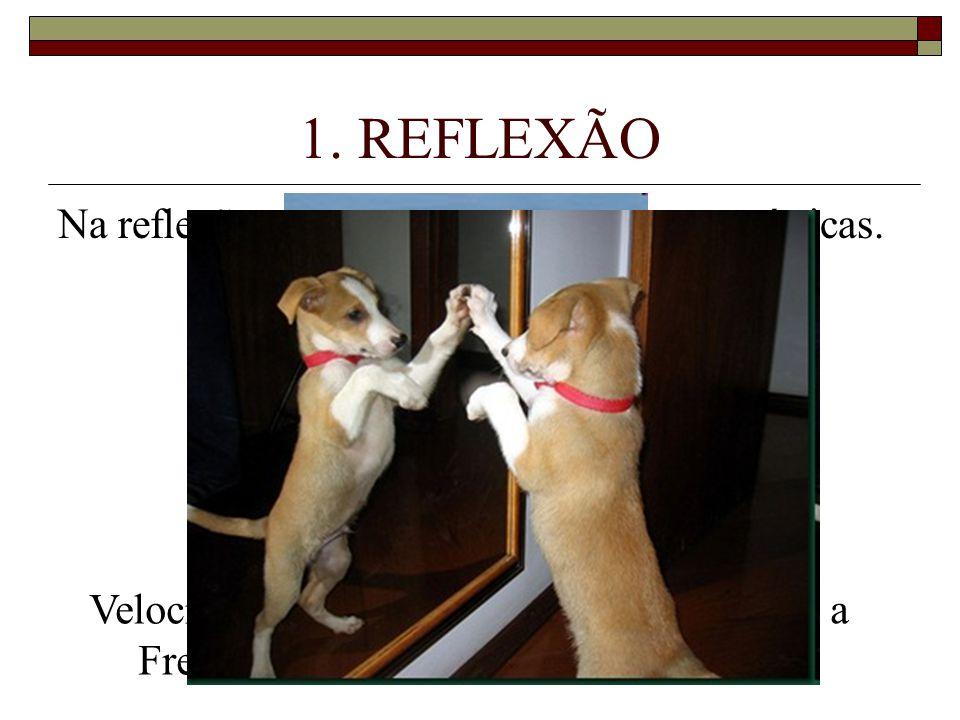 1. REFLEXÃO Na reflexão, a onda mantém suas características.