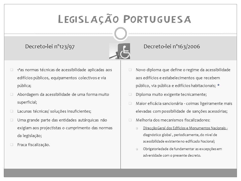 Decreto-lei nº123/97 Decreto-lei nº163/2006