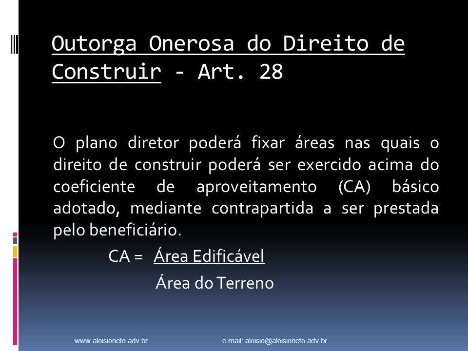 Outorga Onerosa do Direito de Construir - Art. 28